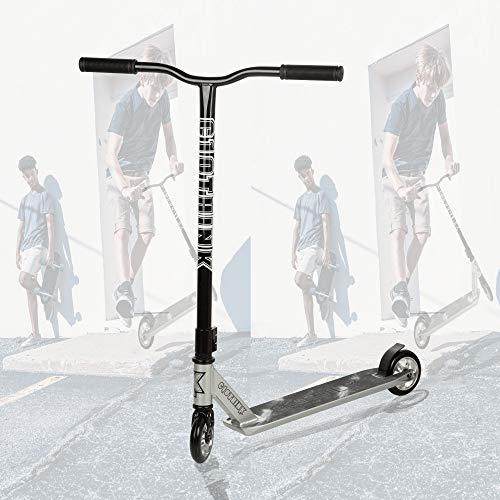 Clothink High End Pro Stunt Scooter - Stunt Roller mit 110 mm PU Räder für ab 7 Jahren (für 120cm bis 185cm) Freestyle, Tricks, Hochleistung Tretroller