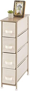 mDesign commode à 4 tiroirs – meuble à tiroirs vertical en panneaux de bois MDF pour la chambre à coucher, le salon ou le ...