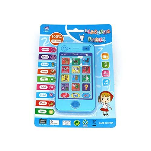 YUIO Kinder Russisches Spielzeug Telefon Frühkindliche Handy Spielzeug Kreatives Baby Kinder Lernspielzeug Geschenk (Blau)