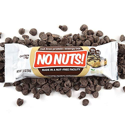 No Nuts! 100% Nut Free Dairy Free Vegan Protein Bars, Chocolate Chip, Organic, Kosher, Egg-Free, Non-Gmo & Dairy-Free Protein Bars