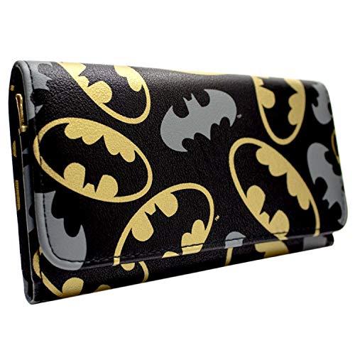 DC Batman Gold und Grau Emblems Schwarz Portemonnaie Geldbörse