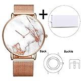 Benutzerdefinierte herrenuhr zifferblatt personalisierte design marmor stein uhr frauen persönlicher name paar liebhaber uhr Logo on Watch Face1