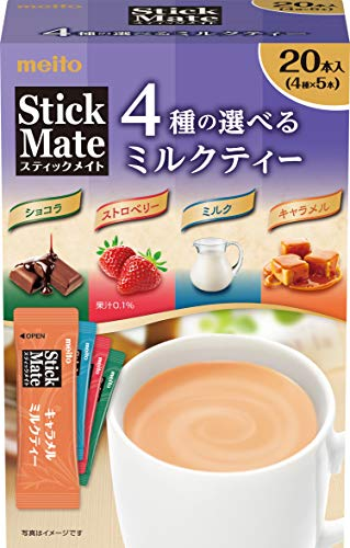 名糖産業 スティックメイト ミルクティー アソート 20本入 ×3個 粉末
