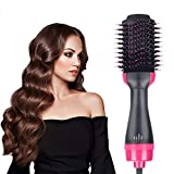 Hair Dryer Brush, Wolady Electric Hot Air Brush, Professional Hair Dryer & Volumizer, 4-in-1 Hot Roller Dryer for Hair Straightening, Curling, Smooth Frizz
