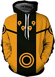 Indrah Unisex 3D Printed Fashion Hoodies Anime Naruto Jacket Pullover Cosplay Costumes
