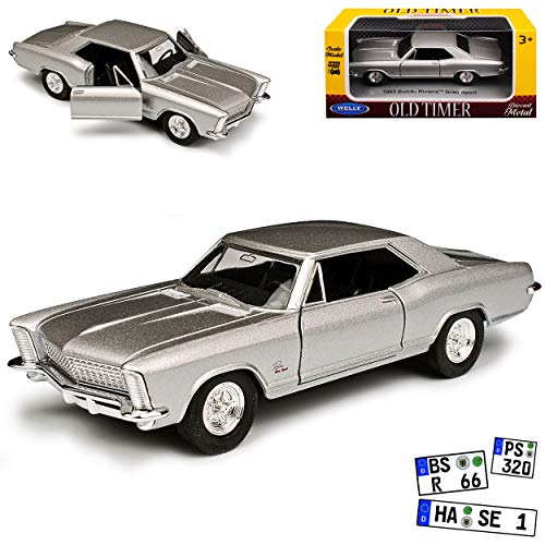 Bui-ck Riviera GS Gran Sport Coupe Silber 1965 ca 1/43 1/36-1/46 Welly Modell Auto
