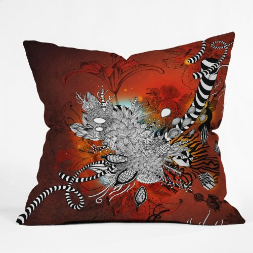 Best Deals! Deny Designs Iveta Abolina Wild Lilly Throw Pillow, 26 x 26