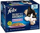 FELIX Katzennassfutter So gut wie es aussieht in Gelee Senior Gemischte Vielfal, 6er Pack (6 x 12 x 85g)