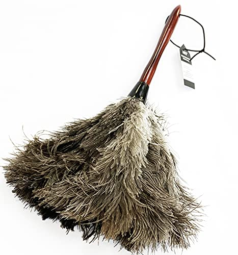 AAYU Feather Duster (36cm) 14.5 inch for Home Cleaning | Soft-Feather Moping and car dusting| Eco-Friendly Genuine Ostrich Dusters with Wooden Handle Easy to Clean Reuse