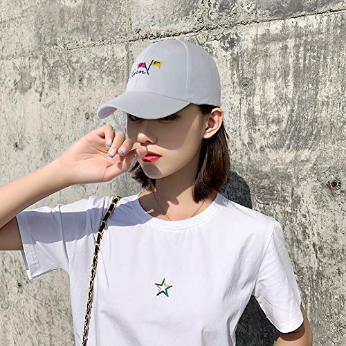 wopiaol Korean version of the hat female autumn fashion all-match baseball cap male outdoor sunscreen sunshade UV duck tongue sun hat