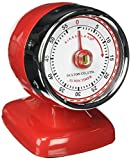 Kikkerland Vintage Streamline Kitchen Timer, Red