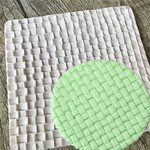 GJEFEGS Bamboo Weaving Shapes Silicone Sugarcraft Mold, Fondant Cake Decorating Tools Bakeware