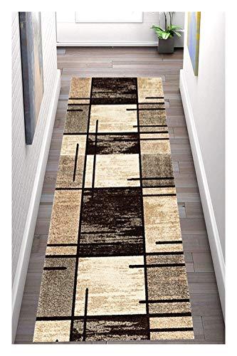 Korridor Teppich- Retro Flur Läufer Teppich, Breite 60cm / 80cm / 90cm erhältlich, rutschfest, Länge Anpassbare (Size : 0.9×1m)