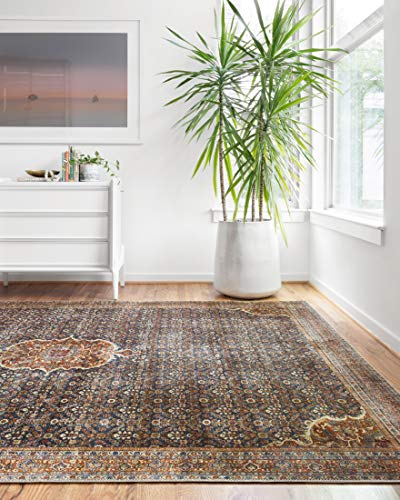 Loloi ll Layla Collection Area Rug, 9'-0' x 12'-0', COBALT BLUE/SPICE