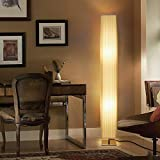Floor Lamps for Bedrooms Living Room - Albrillo 46 Inch Tall Modern Standing Light, Floor Lamp for Office Dorm Fabric Shade Decorative