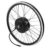 "36V / 48V 350W Juego de Ruedas de Bicicleta eléctrica, Pantalla LED 20 ""Rueda Delantera/Trasera E-Bike Motor Kit de conversión para Bicicleta de Carretera(Motor Delantero)"