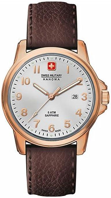 Swiss Military Hanowa 06-4141.2.09.001- Reloj de pulsera hombre, piel, color marrón