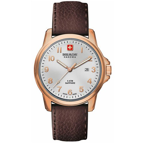 Swiss Military Hanowa Herren-Armbanduhr XL SWISS SOLDIER PRIME Analog Quarz Leder 06-4141.2.09.001