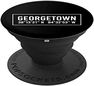 GEORGETOWN KY KENTUCKY Funny City Coordinates Home Gift PopSockets Grip and Stand for Phones and Tablets