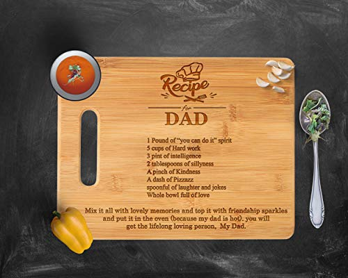 Dad's Recipe Cutting board, gift for dad, Dad's kitchen, Dad's cutting board, personalized cutting board, Christmas Gift For Dad