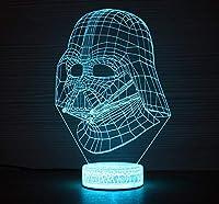 3DイリュージョンランプLedナイトライトクリエイティブスターウォーズダースベーダー7色変更タッチスイッチ寝室のデスクランプ最高の子供の誕生日ホリデーギフト