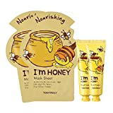 TONYMOLY Sheet Mask With Hand Cream Box Set, I'm Honey