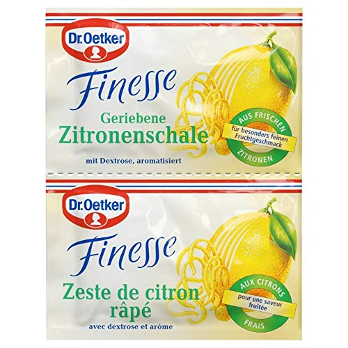 Dr. Oetker Finesse Geriebene Zitronenschale, 2 x 6g