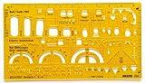 Aristo Gabarit d'architecte 1:50, 225 x 125 mm x 1,2 mm (Jaune transparent)...