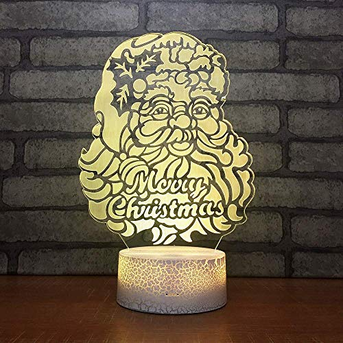 Santa Claus Creative Gift Led Table 3D Lamp Colorful 3D Night Light Christmas Decorations Gift for Baby Room Lights