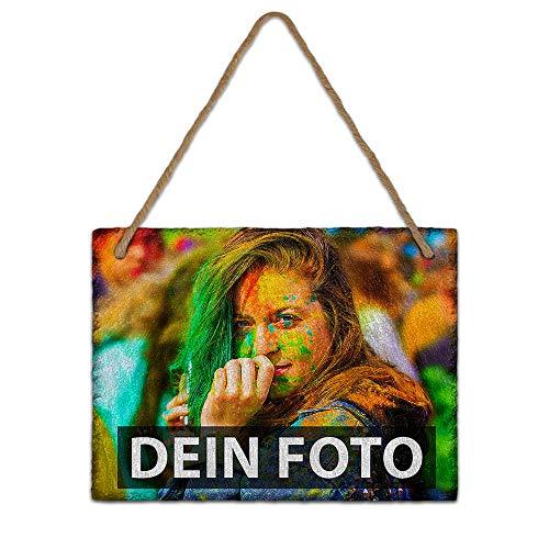 Print Royal Bedruckte Schieferplatte selbst gestalten - Schiefer-Tafel mit Wunsch-Foto/Wand-Deko/Geschenk-Idee - 15 x 20 cm
