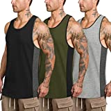 COOFANDY Mens Workout Tank Tops 3 Pack Quick Dry Gym Muscle Tee Fitness Bodybuilding Training Sports...