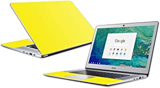 """MightySkins Skin Compatible with Acer Chromebook 15"""" (2018) - Solid Yellow 