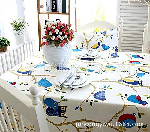 GTWOZNB fácil de Limpiar, para jardín, Habitaciones, decoración de Mesa, Pájaro y Gato de Dibujos Animados Lindo-1_Los 60X60CM