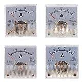 Baoblaze 4 Pz DC Amperometro Analogico Pannello 15A 20A 30A 50A AMP Manometro Amperometro Meccanico