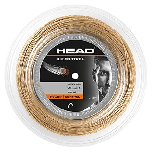Head Rip Control Rollo Cordajes de Raquetas de Tenis, Adultos Unisex, Blanco-Beige, 1,30 mm ⭐