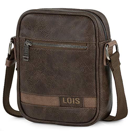 Lois - Bolso con Bandolera Ajustable para Hombre Ideal para Uso Diario 310216, Color Marron