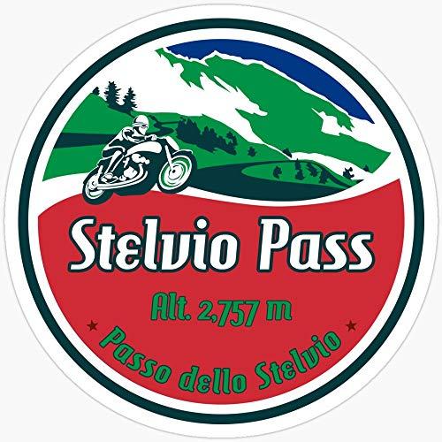 Stelvio Pass Design – Bandera Italiana Colores Pegatinas (3 Piezas/Paquete)