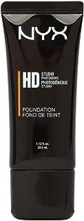 NYX Professional Makeup Had Studio Photogenic Foundation, HDF108 California Tan, 1.12 Fluid Ounce
