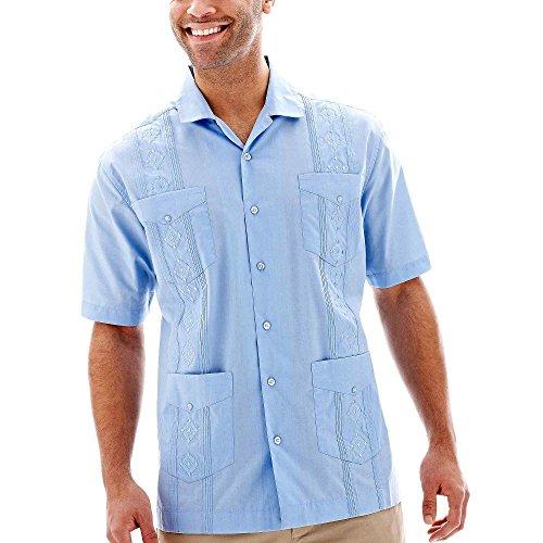 Manga Corta Camisa Guayabera, Blue Bell, X-Grande Havanera Hombres