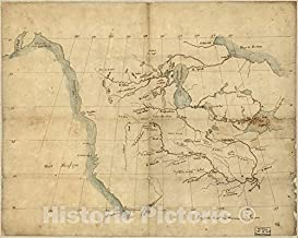 Historic Pictoric Map, 1790-1799 North America from the Mississippi River to the Pacific, between the 35th and 60th parallers of latitude, Vintage Wall Art : 55in x 44in