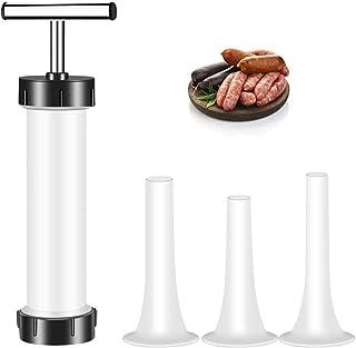 Manual Sausage Maker Sausage Stuffer Filler Hand Operated Salami Maker Food Grade Tools for Commercial & Household Use,wit...