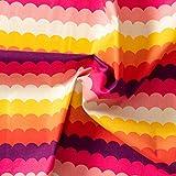 MIRABLAU DESIGN Stoffverkauf Baumwolle Canvas Wellenmuster