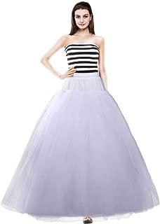 Women's Ankle Length Petticoats Long Underskirt Tulle Wedding Slips Floor Length for Bridal Dress