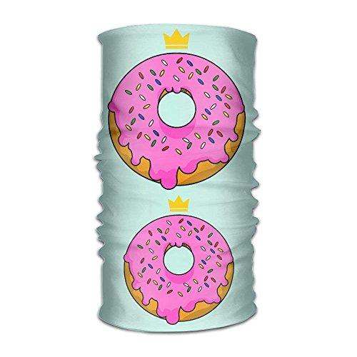 Ejdkdo Headband Bandanas Pink Doughnut Versatile Daily Magic Scarf Neck Gaiter Balaclava Helmet Liner Riding Face Mask for Kids Women Men Outdoors UV Protection Design10