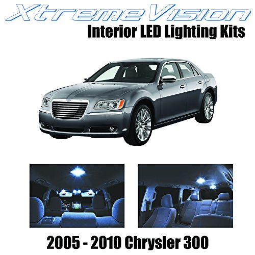 XtremeVision Interior LED for Chrysler 300 / 300C 2005-2010 (7 Pieces) Cool White Interior LED Kit + Installation Tool