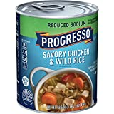 Progresso Reduced Sodium Soup, Savory Chicken & Wild Rice, 19 oz (Pack of 12)