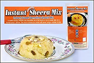 Anish Foods (Solapur) Instant Sheera Mix, Indian Sweet Semolina Snacks Mix, Authentic Indian Sweet - 150 grams each[Pack of 3]