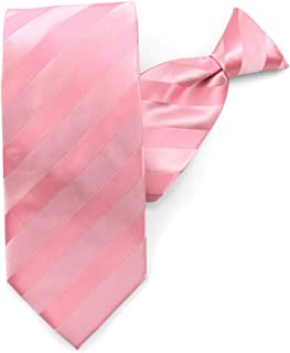 Jacob Alexander Boys' Solid Color Tonal Stripe Neck Tie