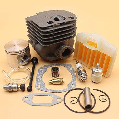 50mm Cilinder Zuiger Luchtfilter Brandstof Olie Lijn Decompressie Klepset Voor HUSQVARNA 365 362 371 372 372XP Kettingzaag Motor