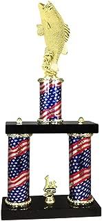 Express Medals 2 Column Bass Fishing Trophy
